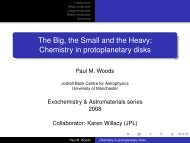 Chemistry in protoplanetary disks - Jodrell Bank Centre for ...
