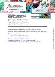 A novel family of human lymphocyte antigen class II receptors may ...