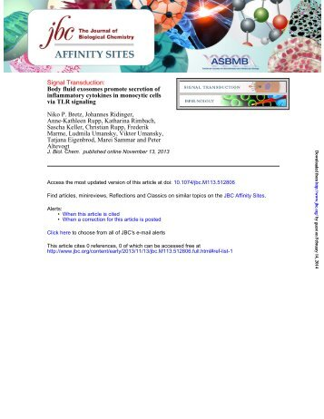 Manuscript Revision - Journal of Biological Chemistry
