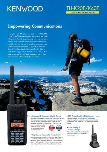 TH-K20E/K40E - Radio 33 - Free