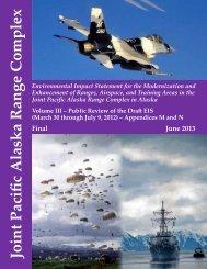 Vol III JPARC FEIS June 2013 A - Joint Base Elmendorf-Richardson