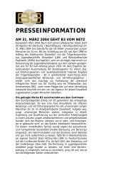 Presseinfo - JBH - Chance für eine Zukunft