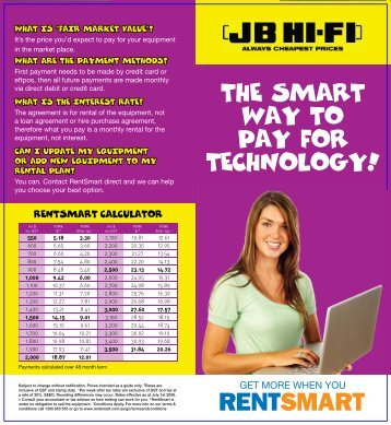 THE SMART WAY TO PAY FOR TECHNOLOGYÂ¡ THE ... - JB Hi Fi