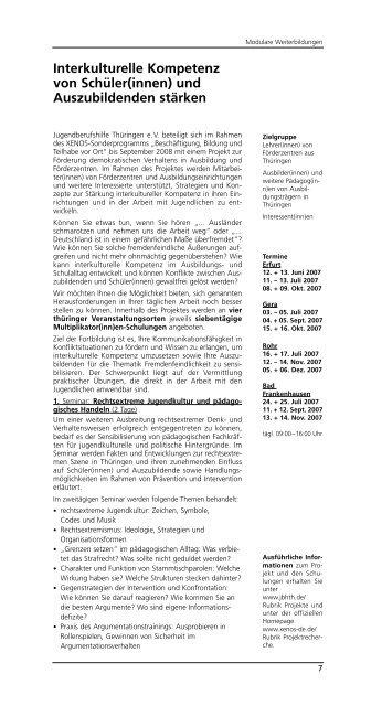 Multiplikator(inn)en-Schulungen - Jugendberufshilfe Thüringen e.V.