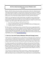 Anti-Virus Recommendations - Discovery Commons - University of ...