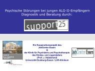 Psychische Störungen bei jungen ALG-II-Empfängern Diagnostik ...