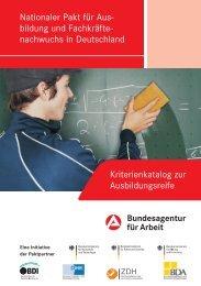 Nationaler Pakt für Ausbildung und Fachkräftenachwuchs