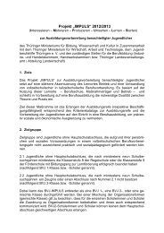 """Projekt """"IMPULS"""" 2012/2013 - Jugendberufshilfe Thüringen e.V."""