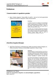 Publikationen - Jugendberufshilfe Thüringen e.V.