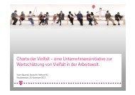 Charta der Vielfalt – eine Unternehmensinitiative zur Wertschätzung ...