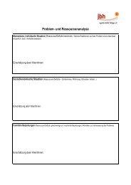 Vorlage Problem- und Ressourcenanalyse