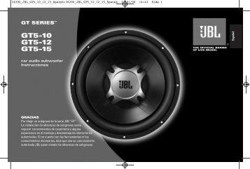 GT5-10 GT5-12 GT5-15 - JBL.com