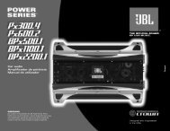 Car audio Amplificador de potência Manual do utilizador - JBL