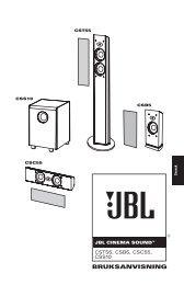 BRUKSANVISNING - JBL.com