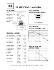 Boxes and Parameters - JBL.com