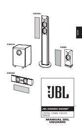 MANUAL DEL USUARIO - JBL.com