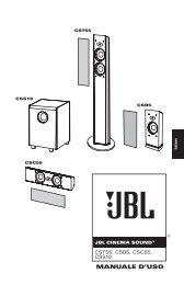 MANUALE D'USO - JBL.com