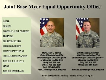 Joint Base Myer Equal Opportunity Office - U.S. Army