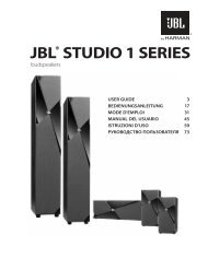 JBL® STUDIO 1 SERIES