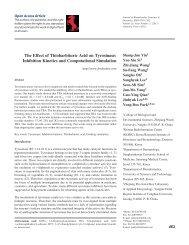 The Effect of Thiobarbituric Acid on Tyrosinase: Inhibition Kinetics ...