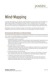 Mind Mapping - Jansen Beratung & Training / Executive Coaching