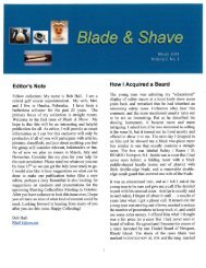 BLADE and SHAVE March 2014 by Bob Hall