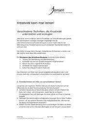 Erfolgstip des Monats 2000-04 - Kreativtechniken.pdf - Jansen ...