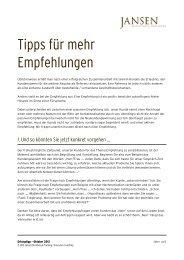 Empfehlungen - Jansen Beratung & Training / Executive Coaching