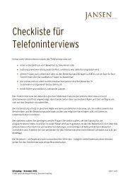 Erfolgstipp 11_2012 - Telefoninterview - Jansen Beratung ...