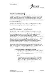 Konfliktumleitung.pdf - Jansen Beratung & Training / Executive ...