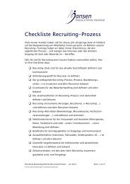 Checklist recruiting.pdf - Jansen Beratung & Training / Executive ...