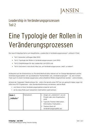Erfolgstipp 06_2013 - Leadership Veränderungsprozesse Teil 2