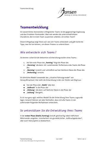 Erfolgstip des Monats 2007-06 - Teamentwicklung.pdf - Jansen ...