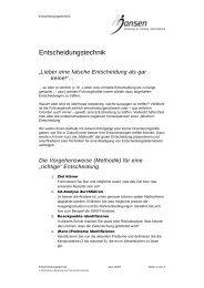 Entscheidungstechnik.pdf - Jansen Beratung & Training / Executive ...
