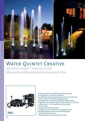 Water Quintet Creative - Jcb aquatique paysage