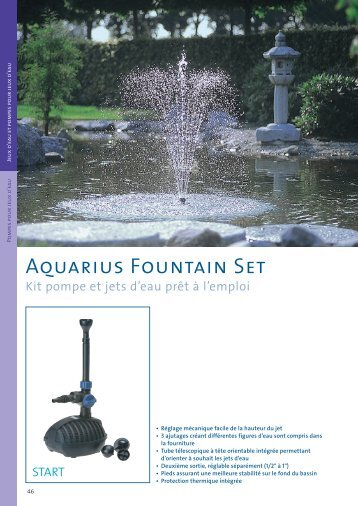 Aquarius Fountain Set - Jcb aquatique paysage