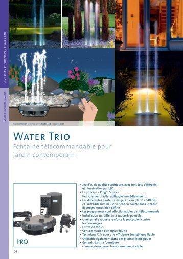 Water Trio - Jcb aquatique paysage