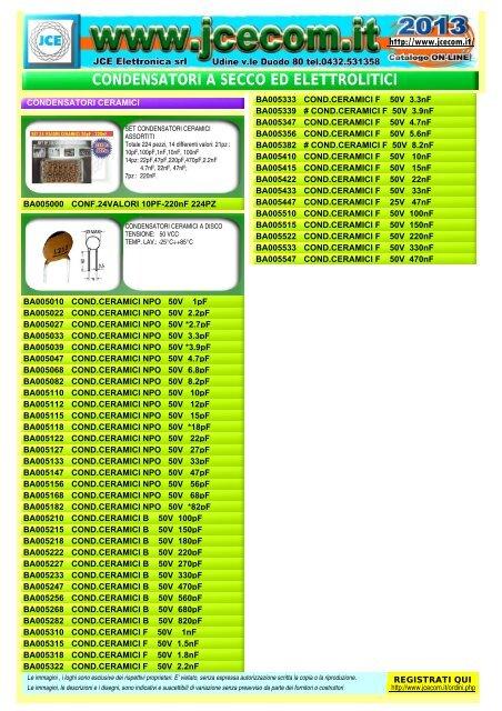 10 pezzi 47 pF NPO ±5/% 50V Condensatori ceramici a disco Passo 5mm