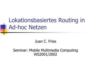 Lokationsbasiertes Routing in Ad-hoc Netzen