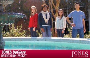 Jones Upclose - Orientation Packet - Jones County Junior College