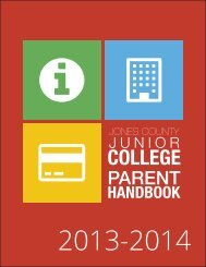 PARENT HANDBOOK - Jones County Junior College