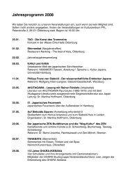 Jahresprogramm 2008 - DJG Oldenburg