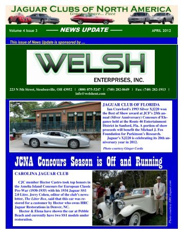 ENEWSLETTER APRIL 2012 for Pdf - Jaguar Clubs of North America