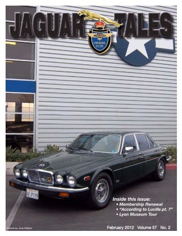 inside this issue: - jaguar clubs of north america