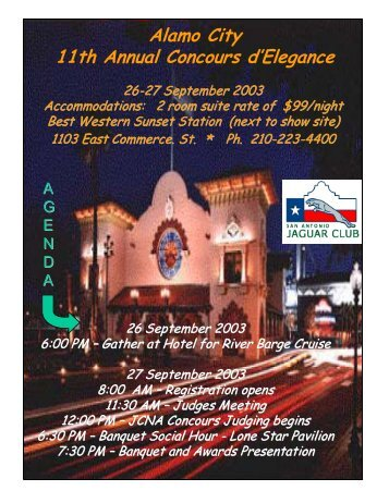 Alamo City 11th Annual Concours d'Elegance - Jaguar Clubs of ...