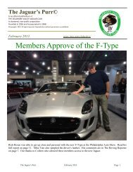 February 2013 - Jaguar Clubs of North America