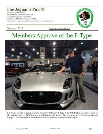 February 2013 - Jaguar Clubs of North America