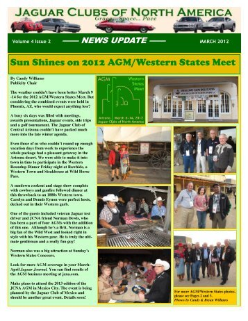 MARCH 2012 enewsletter 2nd VERSION - Jaguar Clubs of North ...