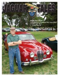 Inside this issue: - Jaguar Owner's Club
