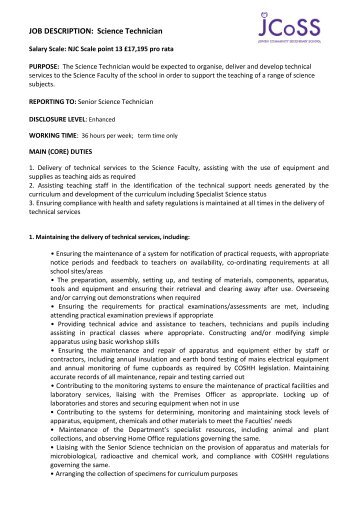 job description science technician assembly technician job description - Assembly Technician Job Description